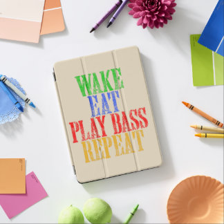 Wake Eat PLAY BASS Repeat iPad Pro Cover