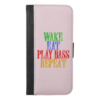 Wake Eat PLAY BASS Repeat iPhone 6/6s Plus Wallet Case
