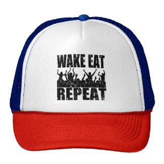 WAKE EAT ROCK REPEAT #2 (blk) Cap
