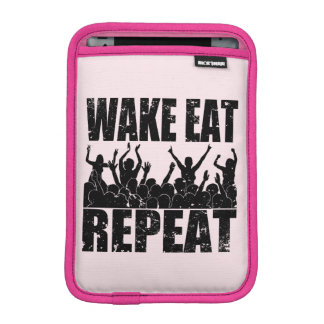 WAKE EAT ROCK REPEAT #2 (blk) iPad Mini Sleeves