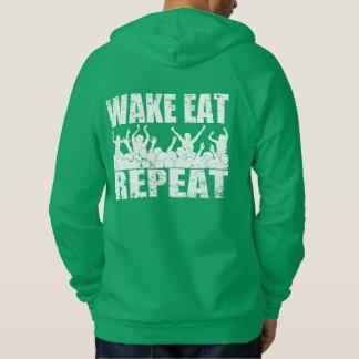 WAKE EAT ROCK REPEAT #2 (wht) Hoodie