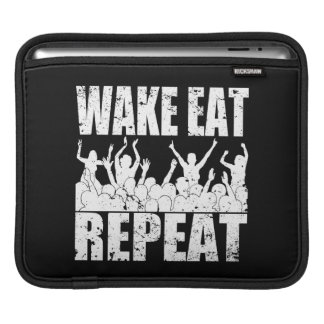 WAKE EAT ROCK REPEAT #2 (wht) iPad Sleeves