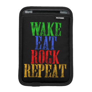 WAKE EAT ROCK REPEAT #3 iPad MINI SLEEVES