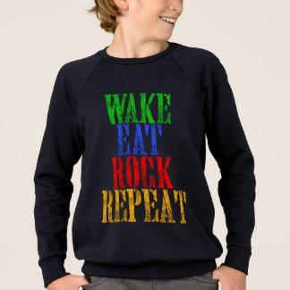 WAKE EAT ROCK REPEAT #3 SWEATSHIRT