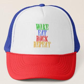 WAKE EAT ROCK REPEAT #3 TRUCKER HAT