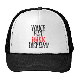 WAKE EAT ROCK REPEAT (blk) Cap