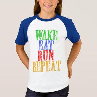 WAKE EAT RUN REPEAT T-Shirt