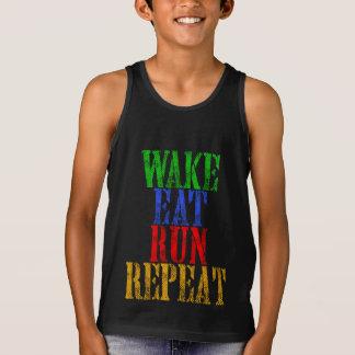 WAKE EAT RUN REPEAT TANK TOP