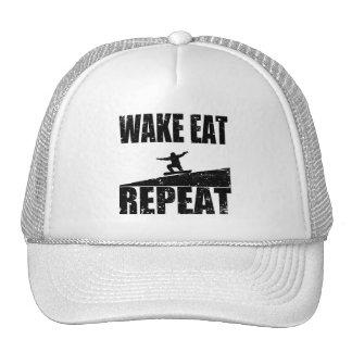 Wake Eat Snowboard Repeat #2 (blk) Cap
