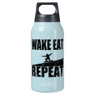 Wake Eat Snowboard Repeat #2 (blk) Insulated Water Bottle