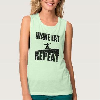 Wake Eat Snowboard Repeat #2 (blk) Tank Top