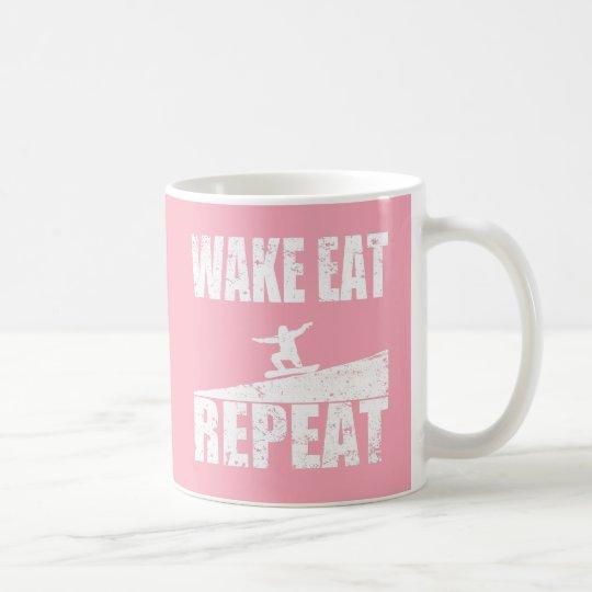 Wake Eat Snowboard Repeat #2 (wht) Coffee Mug