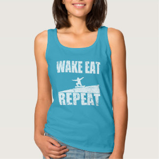 Wake Eat Snowboard Repeat #2 (wht) Tank Top