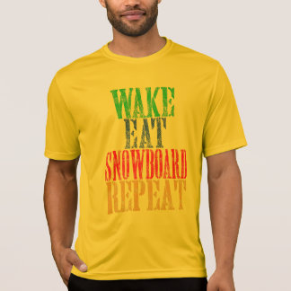 WAKE EAT SNOWBOARD REPEAT T-Shirt