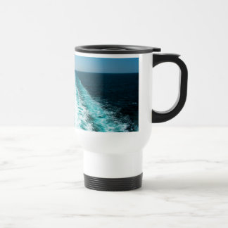 Wake From a Cruise Ship Travel Mug