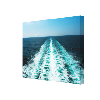 Wake From a Cruise Ship Wrapped Canvas