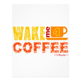 Wake me for coffee flyers