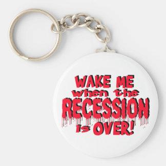 Wake Me Recession Keychain