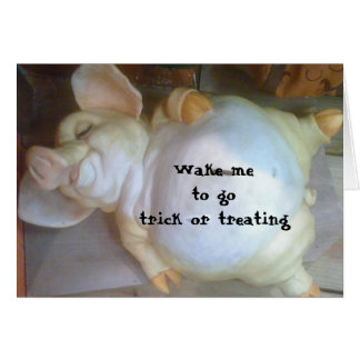 WAKE ME TO GO TRICK OR TREATING CARD