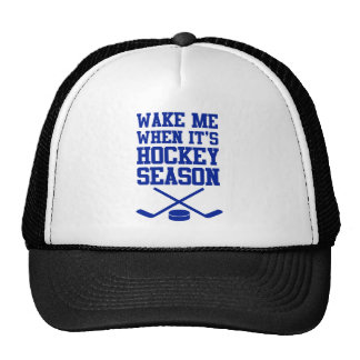 Wake Me When It's Hockey Season Mesh Hat