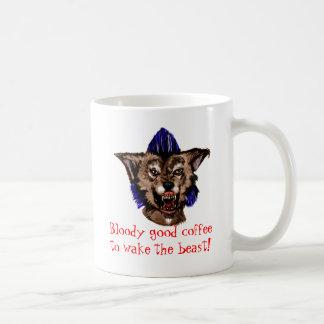 Wake the beast coffe mug! basic white mug
