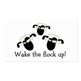 """""""Wake The Flock Up!"""" Business Cards"""