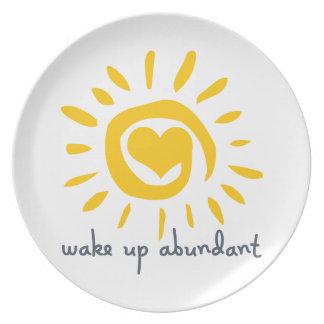 Wake Up Abundant Dinner Plate