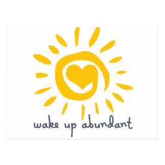 Wake Up Abundant Postcard