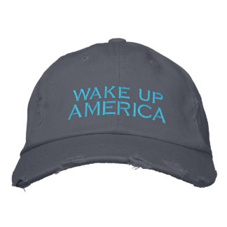 wake up AMERICA Embroidered Hat