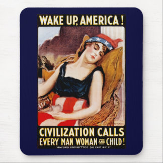 Wake Up America Mouse Pad