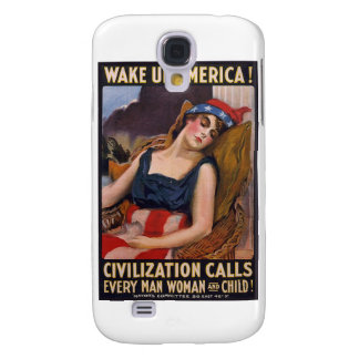 Wake Up America Poster Galaxy S4 Case
