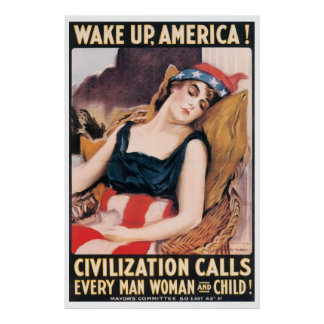 Wake Up America WWI Poster