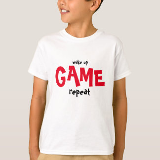 Wake up and Game t shirt  for gamers