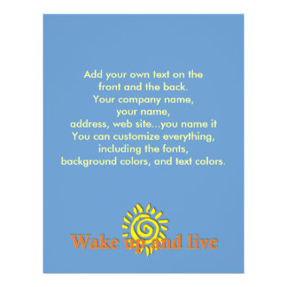 Wake Up and Live 21.5 Cm X 28 Cm Flyer