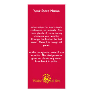 Wake Up and Live Rack Card Template