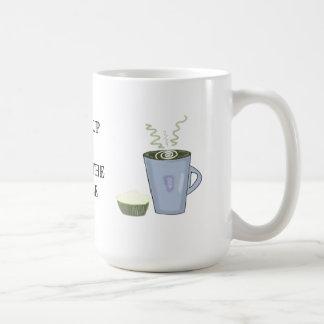 Wake Up and Smell the Coffee Basic White Mug