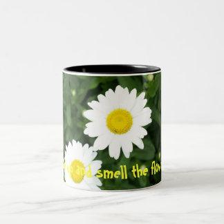 Wake up and smell the flowers! mug