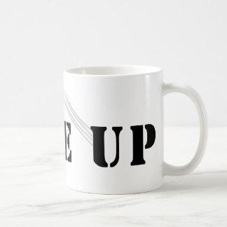 WAKE UP BASIC WHITE MUG