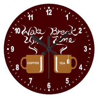 Wake up! Break time Wallclocks