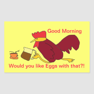 Wake up call Rooster Coffee stickers