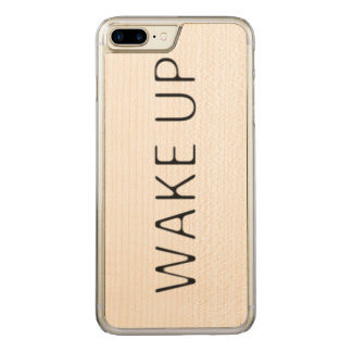 WAKE UP CARVED iPhone 8 PLUS/7 PLUS CASE