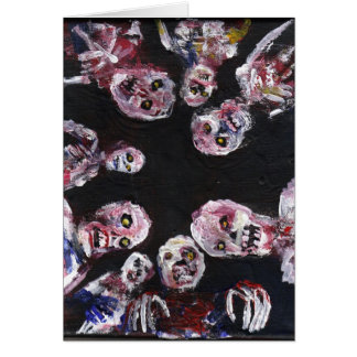 Wake Up Dead greeting card by jack larson
