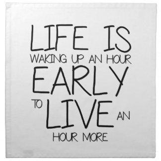 Wake Up Early - Motivation Quotes Napkin