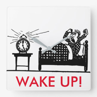 Wake Up! Funny Minimalist Clock