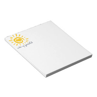 Wake Up Grateful Notepad