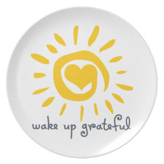 Wake Up Grateful Party Plates