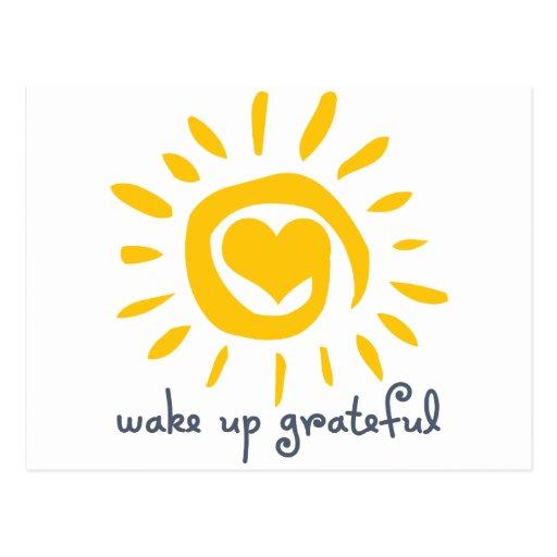 Wake Up Grateful Postcard