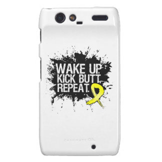 Wake Up Kick Butt Repeat - Endometriosis Motorola Droid RAZR Case