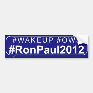 Wake Up Occupy Wallstreet Ron Paul 2012 Bumper Sticker