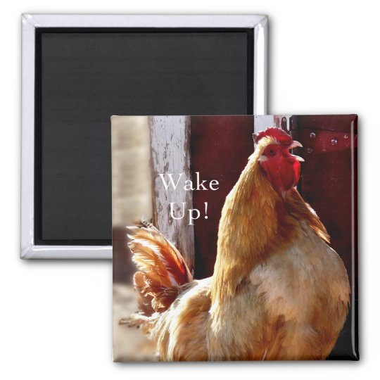 Wake up! Rooster Magnet